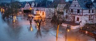Überflutetes Dorf