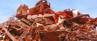 Kupferschrott, bereit zum Recycling