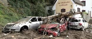 Sachschäden nach der Flutkatastrophe im Ort Altenahr