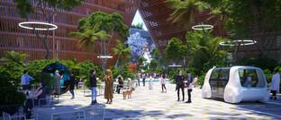 Entwurf der Zukunftsstadt BiodiverCity in Malaysia