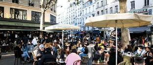 Gut besuchte Cafés in Paris