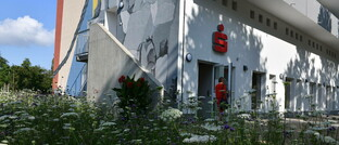 Neu eröffneter Selbstbedienungs-Terminal der Sparkasse Saarbrücken