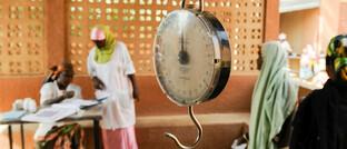 Säuglingswaage in Zentralafrika