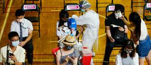 Impfung mit dem Moderna-Vakzin in Taiwan