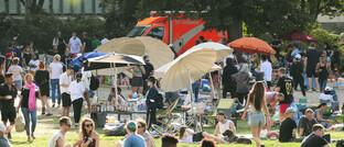 Berliner Park im Juli