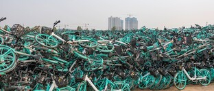 Ausrangierte Leih-Räder von Didi Chuxing