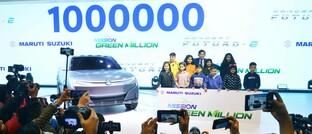 Präsentation des neuen E-Autos eines indischen PKW-Herstellers