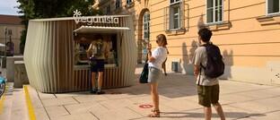 Kiosk für vegane Produkte in Wien