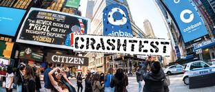 Touristen vor dem Nasdaq-Gebäude in New York