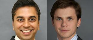 Fondsmanager Sanjay Natarajan (links) und Deividas Seferis