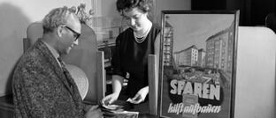 Sparkasse in Berlin in den 1960er Jahren