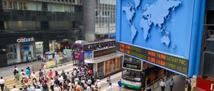 Öffentliche Aktienkursanzeige in Hongkong