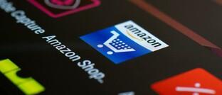 Amazon-App auf einem Smartphone-Display