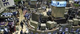 Das Börsenparkett in New York