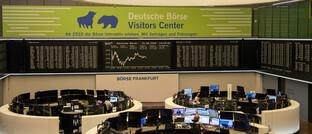 Dax-Chart im Besucherzentrum der Deutschen Börse
