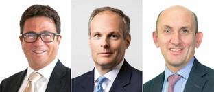 Neue Columbia-Threadneedle-Funktionäre (von links)