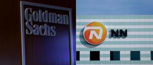 Logos von Goldman Sachs und NN Group