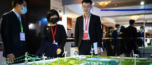 Ausstellung zum Thema erneuerbare Energien in der chinesischen Hauptstadt Peking