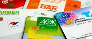 Versichertenkarten mehrerer gesetzlicher Krankenversicherungen