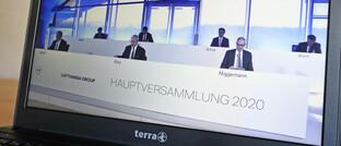 Virtuelle Lufthansa-Hauptversammlung während Corona