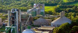 Holcim-Zementfabrik in Lägerdorf, Schleswig-Holstein