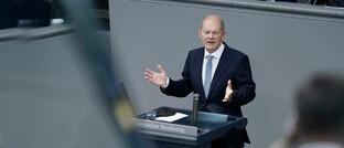 Finanzminister Olaf Scholz im Bundestag