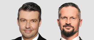 Vertriebschef Holger Leimbeck (links) und Senior-Vertriebsmanager Marcus Perschke, beide von Bayerninvest
