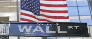 Wall-Street-Schild in New York