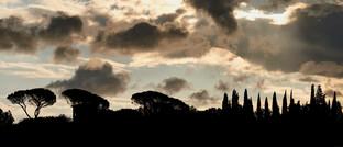 Gewitterwolken über Umbrien