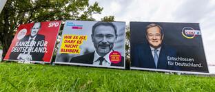 Großplakate zur Bundestagswahl 2021