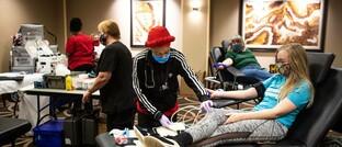 Blutspendetag in einem Hotel in den USA