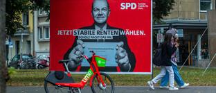 SPD-Wahlplakat zur Rentenpolitik