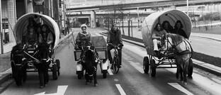 Pferdewagen in deutschen Großstädten (November 1973)