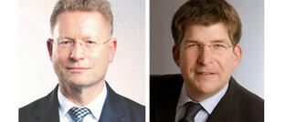Nachhaltigkeits-Experten Roland Kölsch (links), QNG-Geschäftsführer, und FNG-Vorstandsvorsitzender Volker Weber