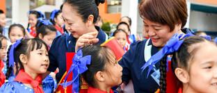 Schulkinder in China