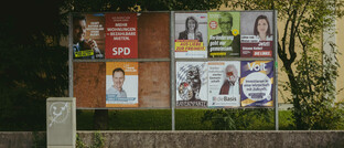 Wahlplakattafel in Starnberg