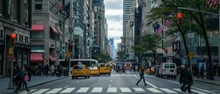 Straßenszene in New York