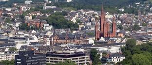 Blick auf die Stadt Wiesbaden