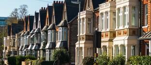 Häuserzeile in Cambridge