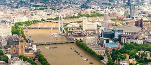 Ein Luftfoto der Haupstadt London