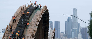Brückenbau in Los Angeles