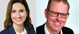 Julia Palte, neue Generalbevollmächtigte und ab 2023 Vertriebsvorständin und Steffen Schuster, künftiger AO-Chef von Concordia.