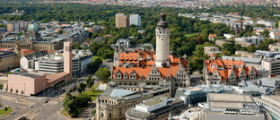Blick auf die Leipziger Altstadt